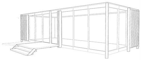 szkic projektu pawilonu