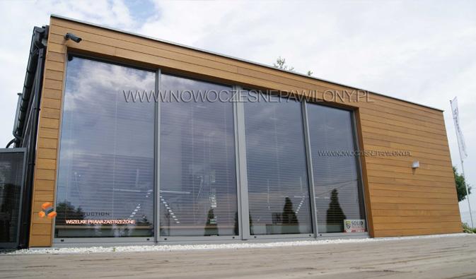 nowoczesna kosntrukcja pawilonu